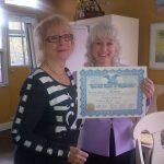 "My photo, graduating from ""Train the Trainers"" with Georgina Cannon may inspire you to get your own photo, graduating from my upcoming clean-pristine hypnosis training"